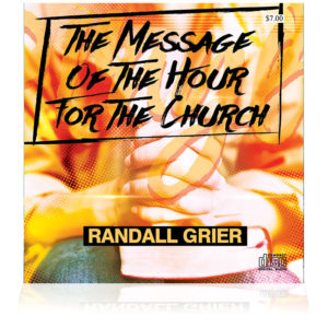 The Message Of The Hour For The Church (Single CD)
